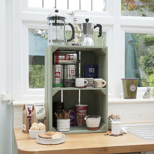 Obstkisten Regal in der Küche machen around the house - regale für küche