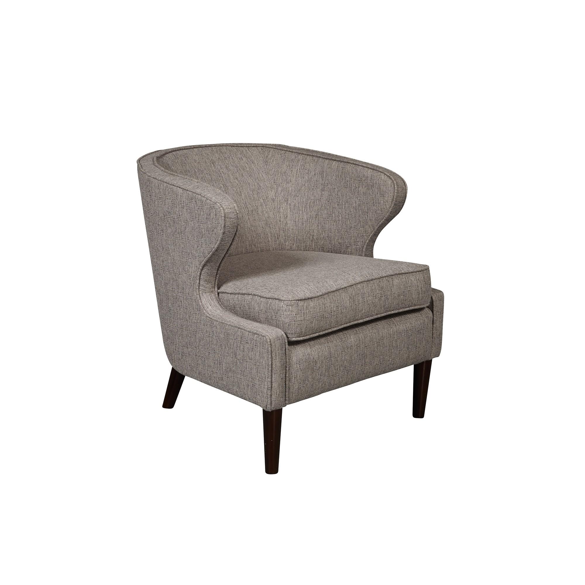 Modern Shelter Back Grey Polyester Accent Chair Grey Pulaski