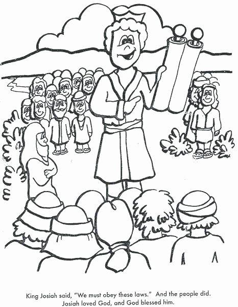 King Josiah Coloring Page New King Josiah Coloring Page