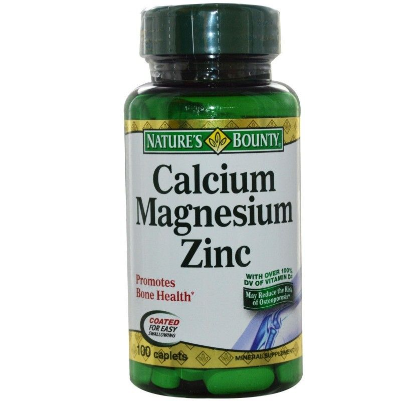 Nature S Bounty Calcium Magnesium Zinc 100 Caplets Calcium Magnesium Zinc Supplements Zinc Benefits
