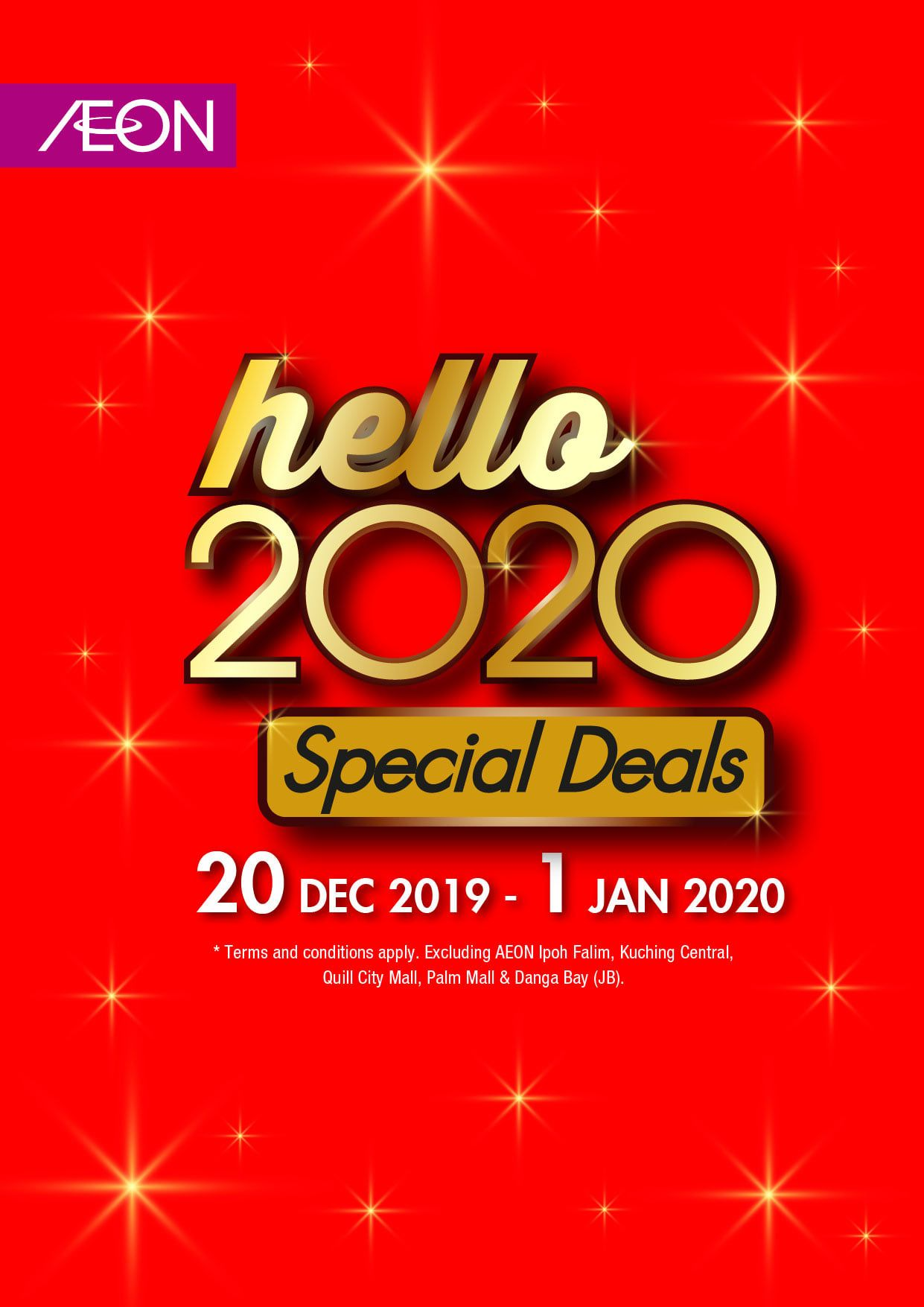 Aeon New Year 2020 Promotion 20 December 2019 1 January 2020 New Year 2020 Promotion Newyear