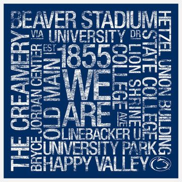 Penn State Subway Art, $99, now featured on Fab.