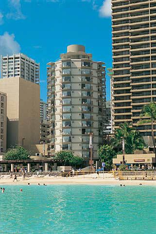Aston Waikiki Circle Hotel A Cute Little In The Middle Of Across Street From Beach All Rooms Have 2 Queen Beds