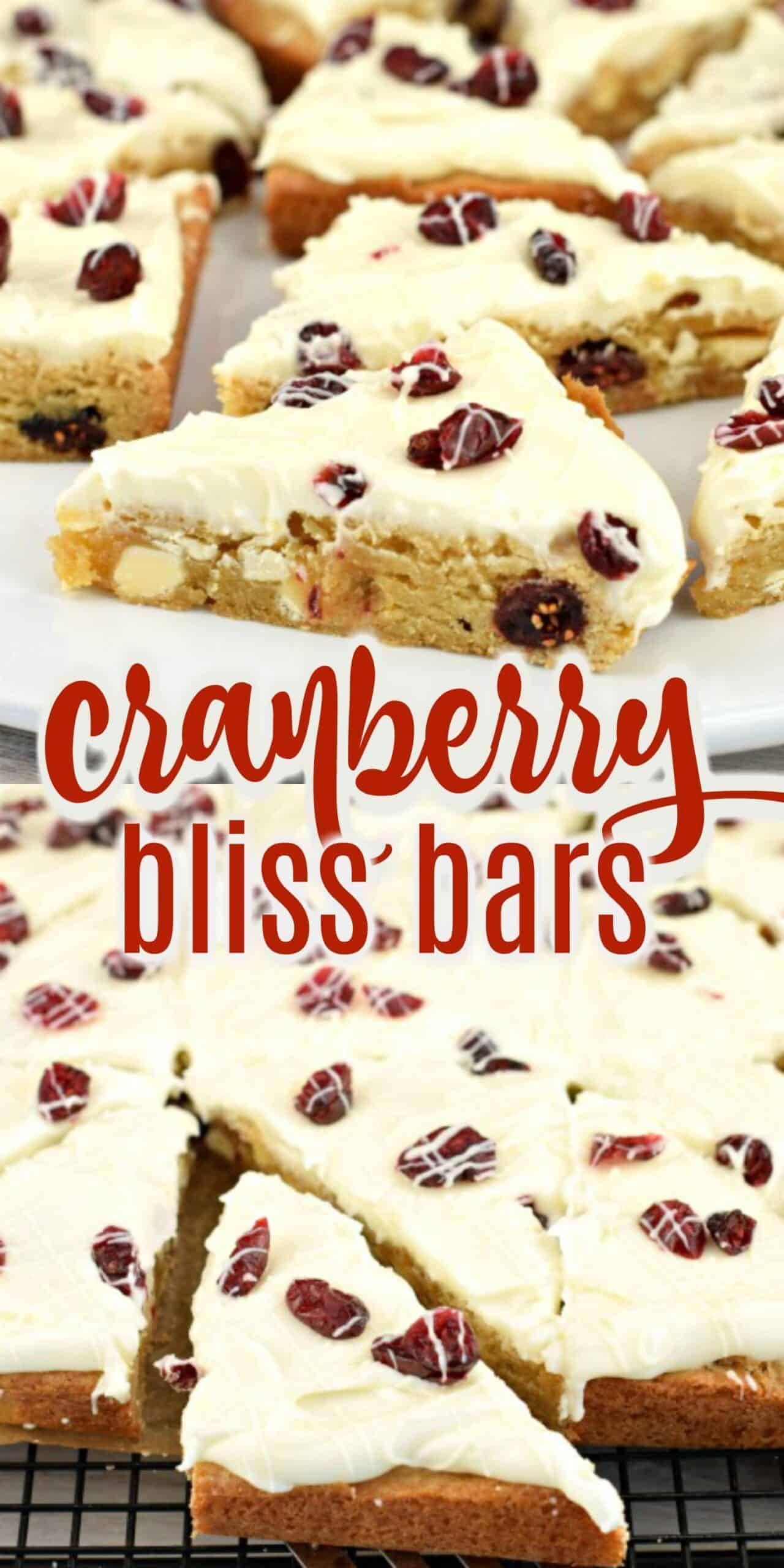 Cranberry Bliss Bars {Starbucks Copycat} Recipe - Shugary Sweets