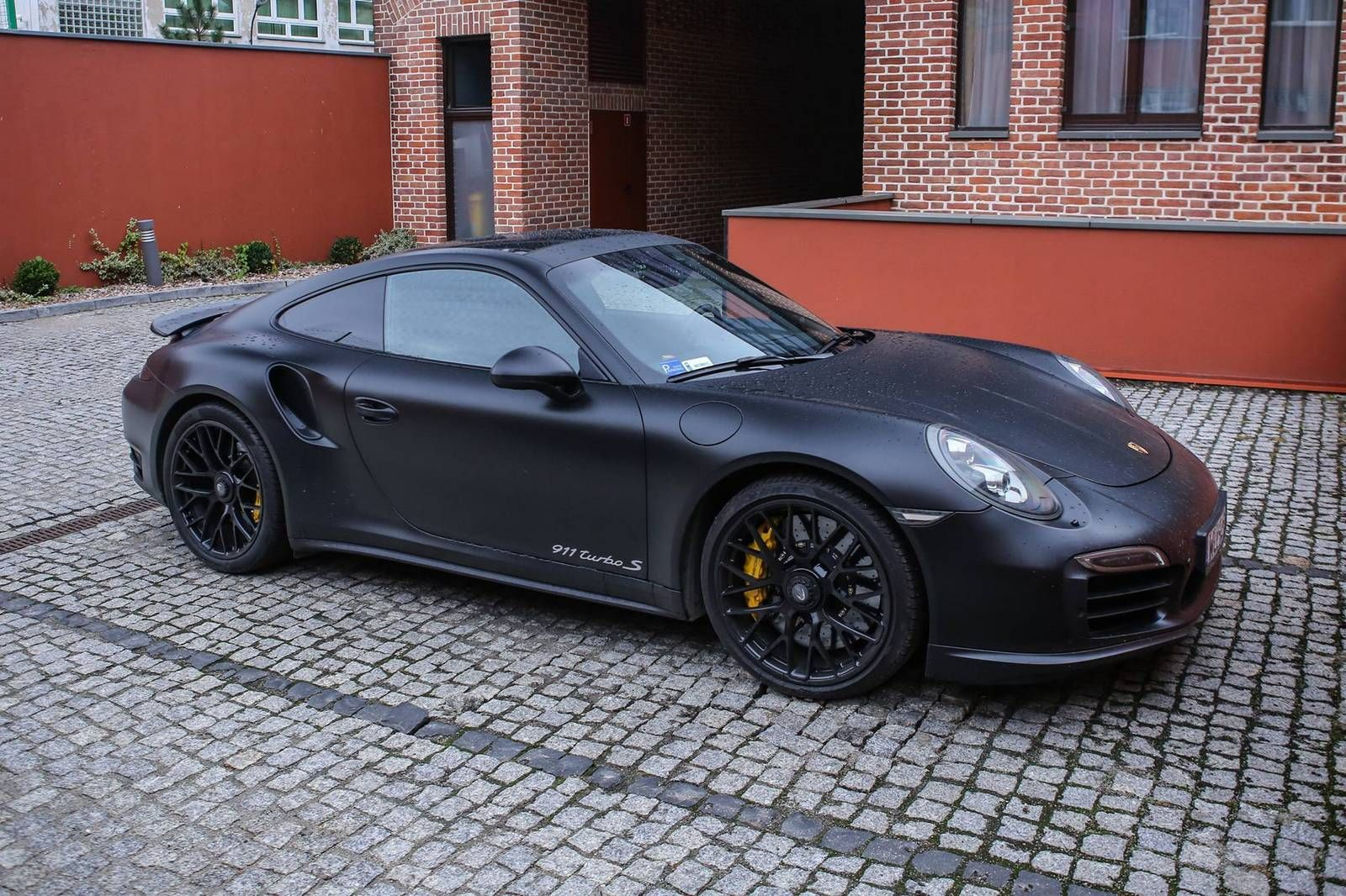 2016 porsche 911 turbo s matte black photos