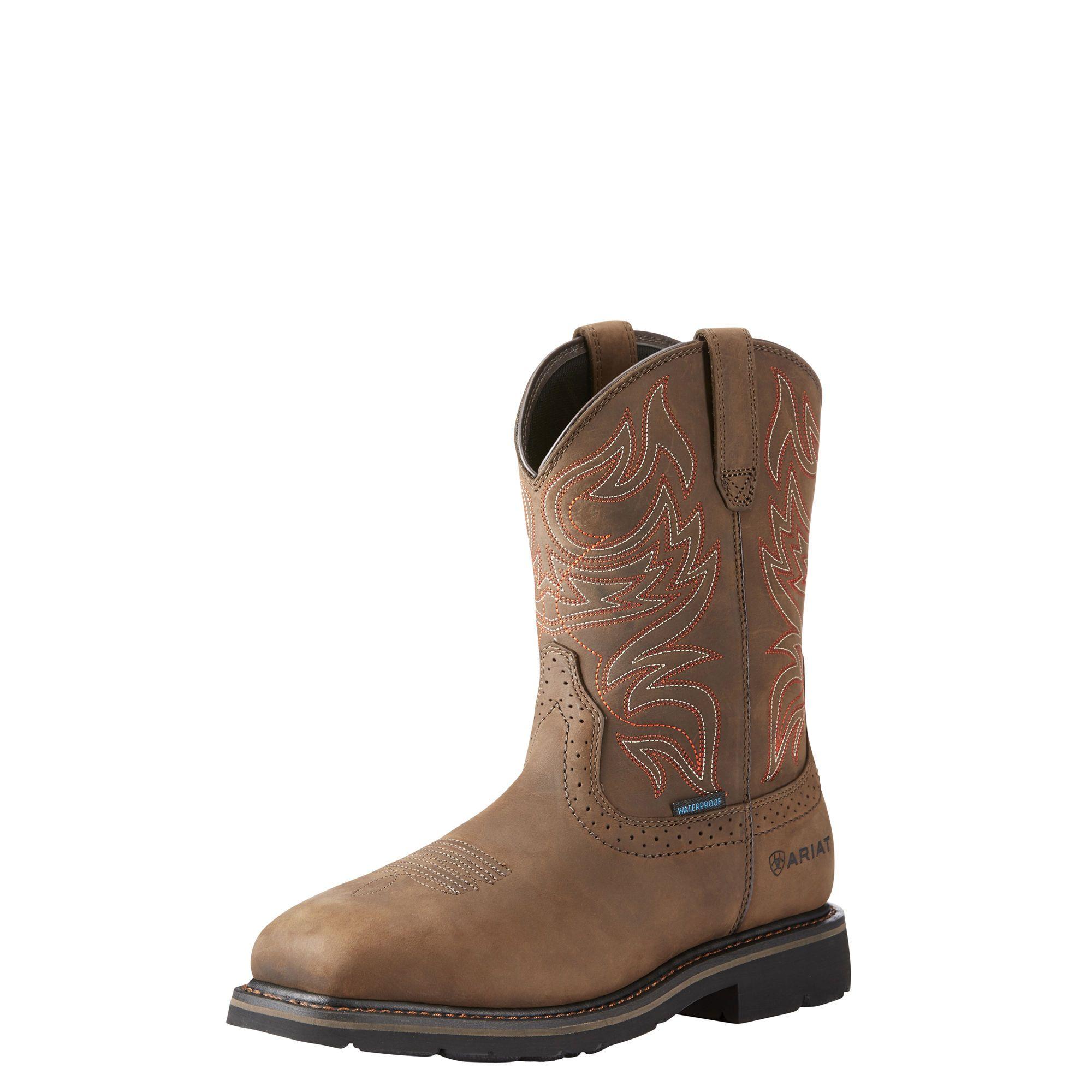 Gravity Defyer Vance Mens Boots Waterproof Comfortable Work Boots Slip-Resistant