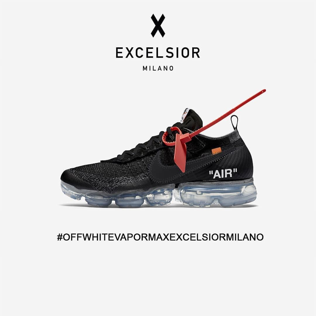 best sneakers 334b5 216bc THE RAFFLE FOR OFFWHITE Supreme x Nike AIR VAPORMAX FK BLACK IS NOW  OPEN! STEP 1) FILL OUR REGISTRATION FORM ONLINE ON EXCELSIORMILANO.COM…