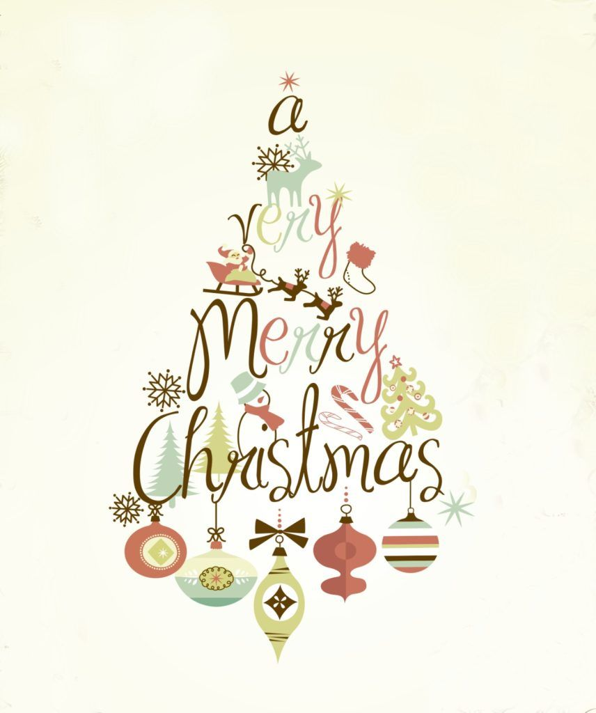 Calligraphy Style A4 Size Christmas Craft Template Merry Christmas Stencil