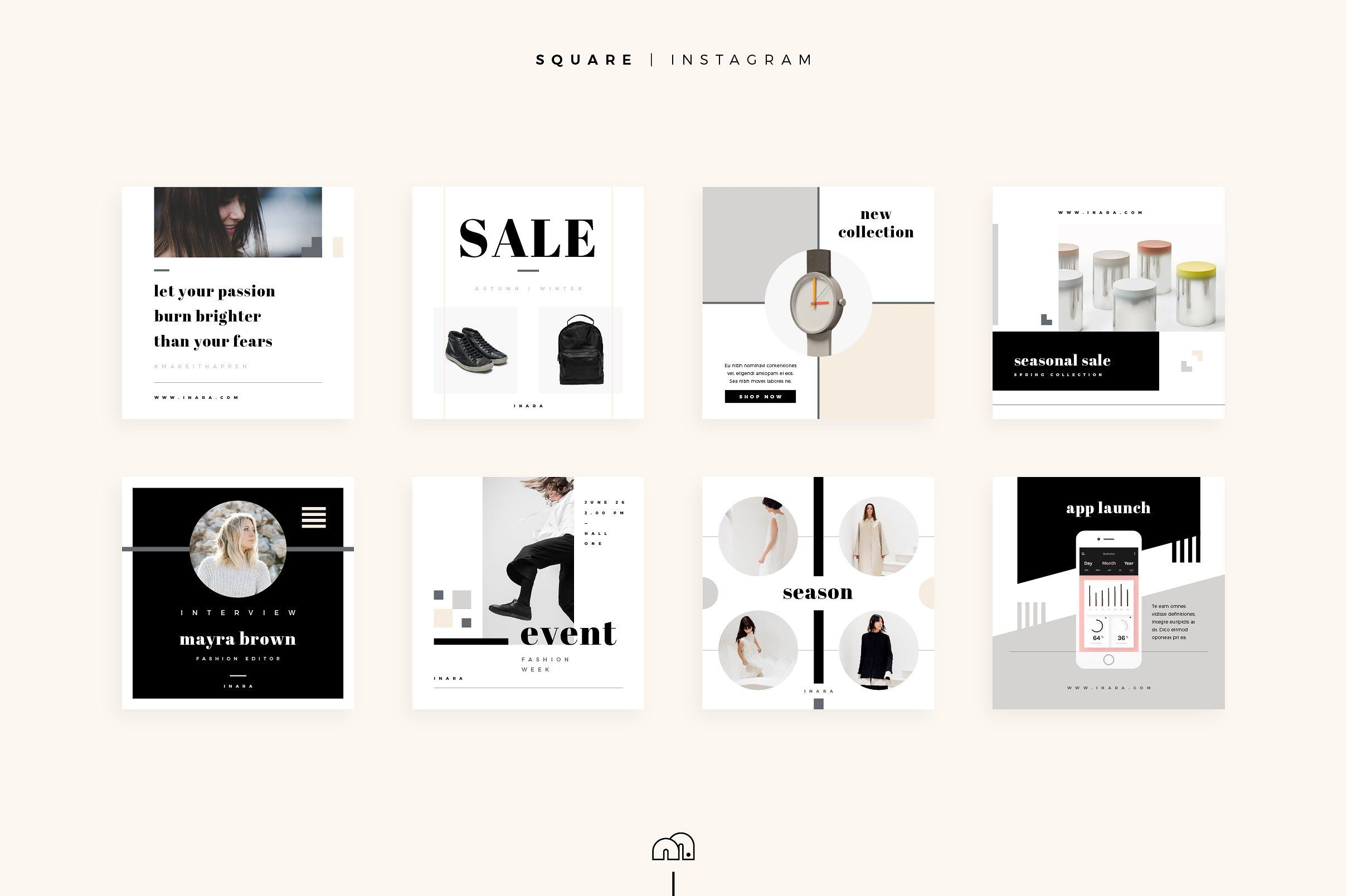 Social Media Pack - Inara by bilmaw creative on