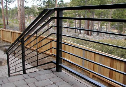 Horizontal Porch Railing | Downtown Ornamental Iron | 63023 Layton Avenue |  Bend, Oregon 97701