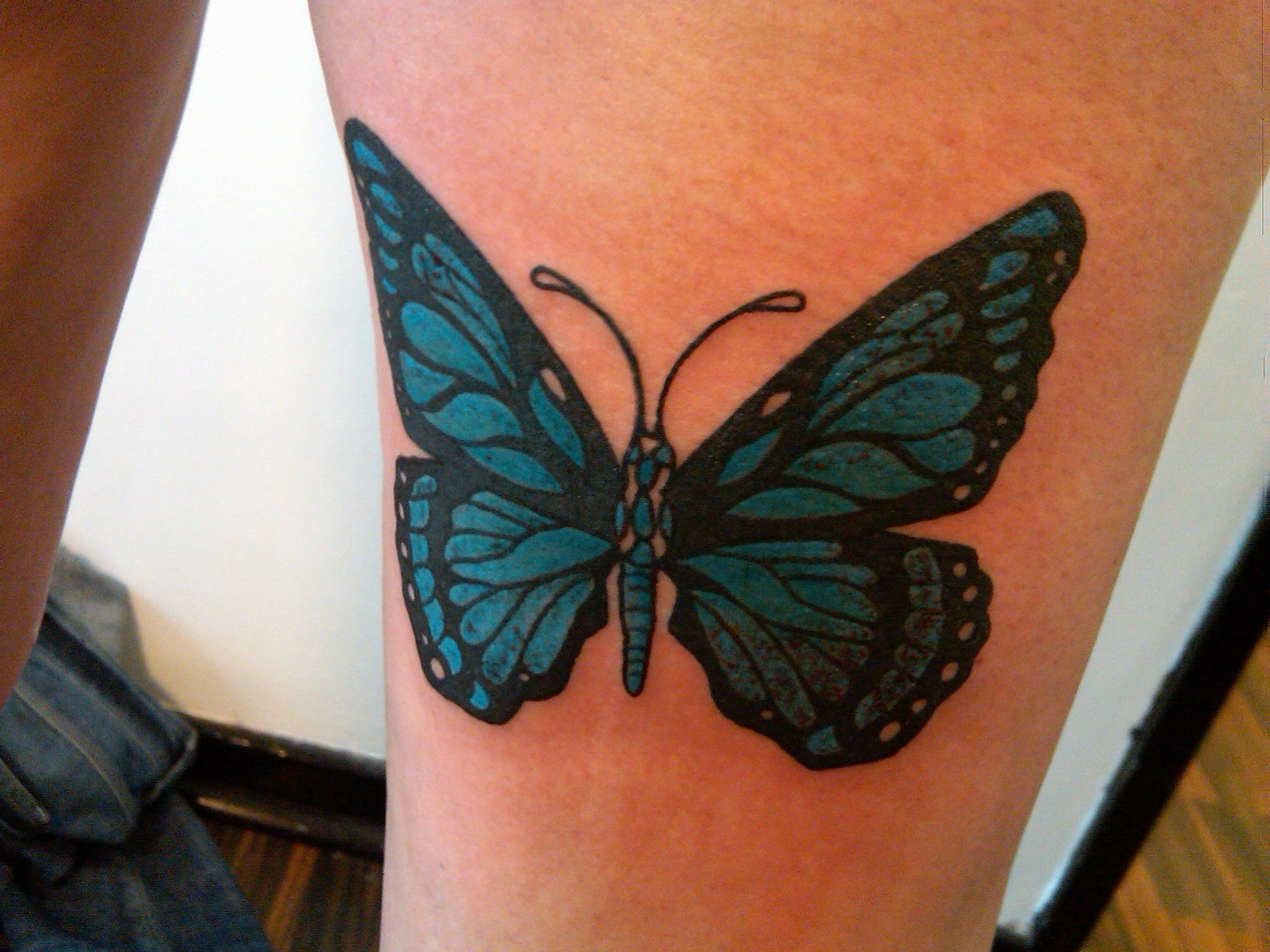 The o jays butterfly tattoos and clothes on pinterest - My Own Butterfly Tattoo This Photograph Was Taken The Moment The Tattoo Was Finished And
