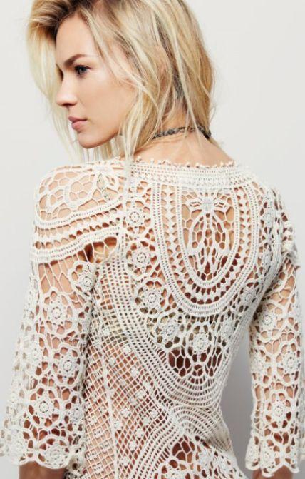 bd9b808db85a3c Crochet boho tunic PATTERN – crochet trends | Crochet Tops,Vests | Crochet  tunic pattern, Crochet y Crochet tunic