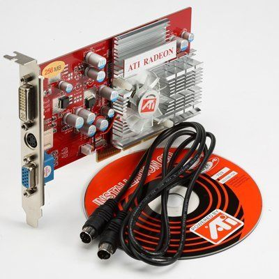 ATI Radeon 9200 256MB 256 MB AGP Video Graphics Adapter/Card DVI/TVO Desktop/PC by ATI. $25.54