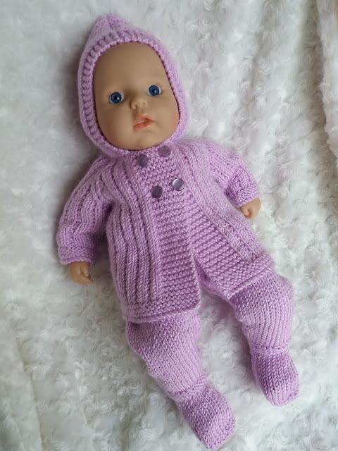Linmary Knits: Baby Annabell Pram set | Baby doll clothes ...
