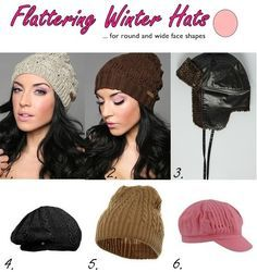 Flattering Winter Beanie Hats And Caps For Round And Wide Face Shapes Winter Hats Hat Hairstyles Winter Accessories Fashion