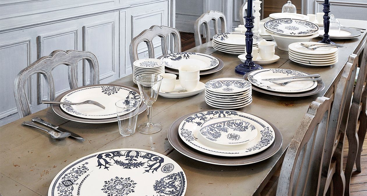 Gien manufacture pretty French country designs on earthenware ideal for every day kitchen dining | Harlequin London #country #tableware #dinnerware # ... & Gien manufacture pretty French country designs on earthenware ideal ...