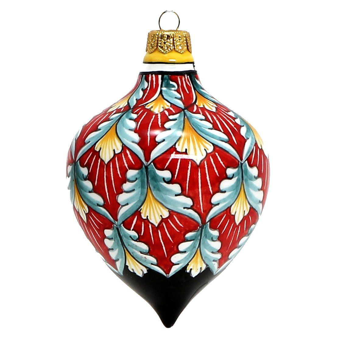 Christmas Ornament Drop Ball Hand Painted In Deruta Vario Design Large Christmas Ornaments Large Christmas Ornaments Painted Christmas Ornaments