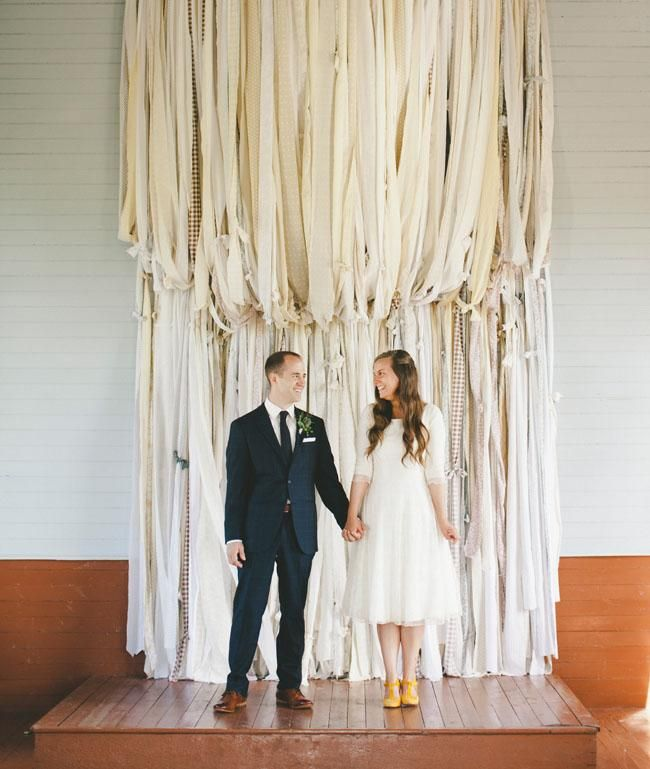 Wedding Altar Backdrops: Canadian Wedding At A Tiny White Church In A Field