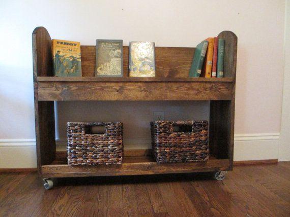 Old Fashioned Child S Rolling Bookshelf Cart On Etsy