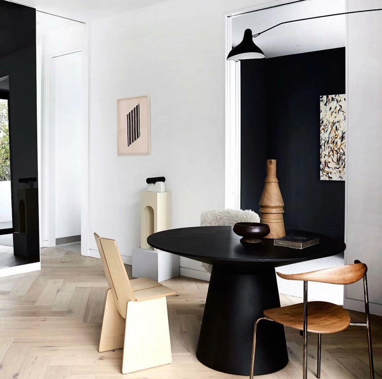 modern black white minimalist furniture interior. Cute Little Minimalist And Modern Black, White, Wood Dining Nook Black White Furniture Interior U