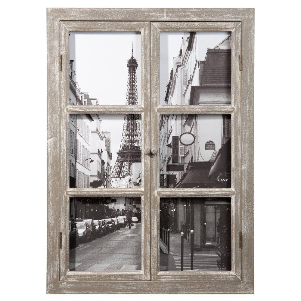 Tableau fen tre tour eiffel 57 x 79 cm tableau paris et maisonsdumonde - Tableau oriental maison du monde ...