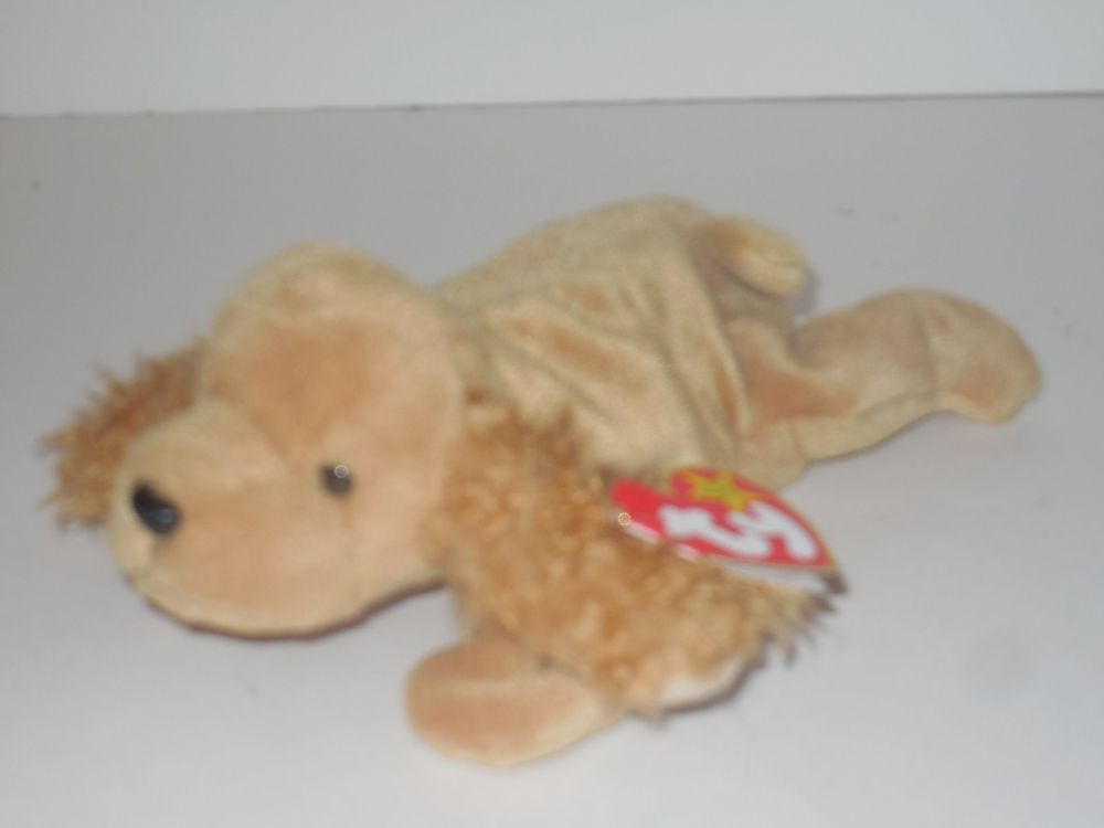 514b56f757d Ty Beanie Baby Spunky the Cocker Spaniel Retired 1997 MWMT  Ty ...