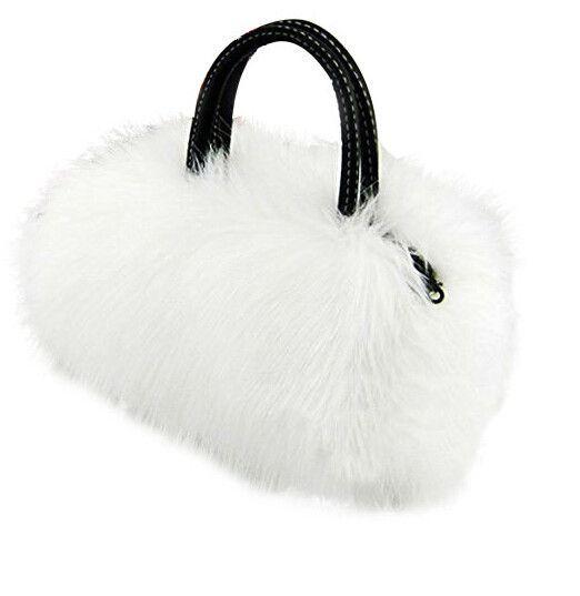 IMC Lady Girl Pretty Cute Lovely Plush Fur Hairy Handbag Shoulder Bag Messenger Bag