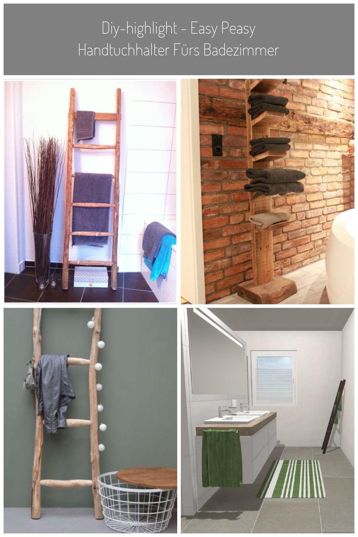 Holzleiter Badezimmer Handtuchhalter Leiter Diy Highlight Easy