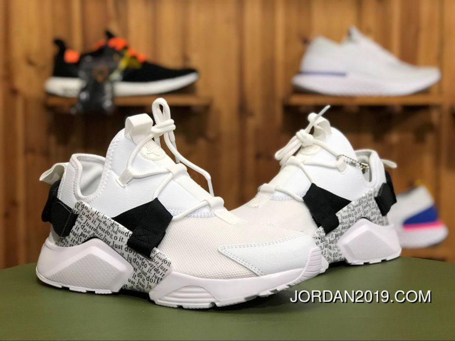 "6eb96274aa86c Nike Air Huarache City Low ""Just Do It"" AO3140-100 White Black-Total Orange  Online"