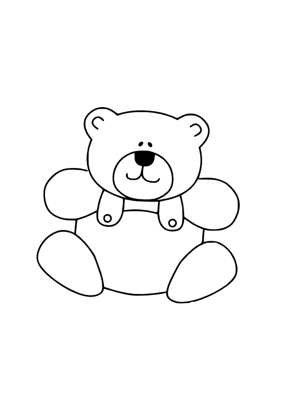 gustavorezende teddy bear black white line art ... - ClipArt Best ...