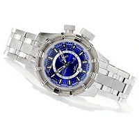 Invicta Reserve Men's Bolt Quartz GMT Stainless Steel Bracelet Watch w/ 3-Slot Dive Case