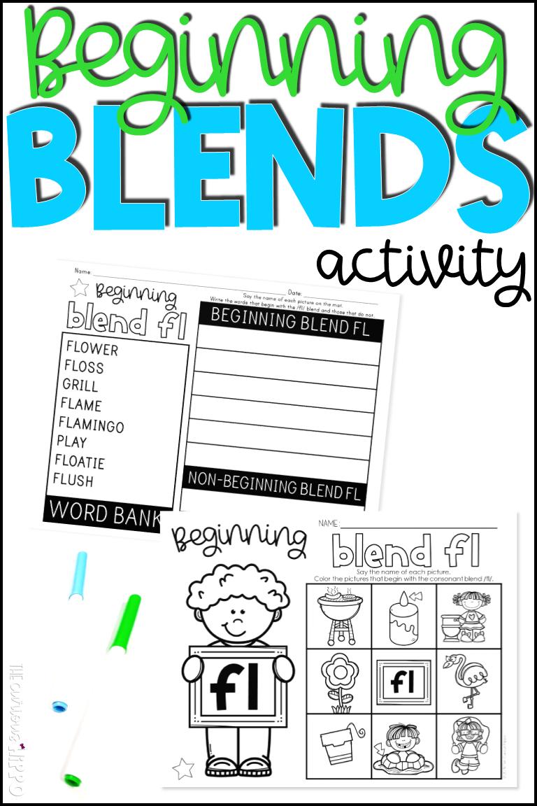 Beginning Blends Activity Blends Activities Kindergarten Phonics Activities Phonics Kindergarten