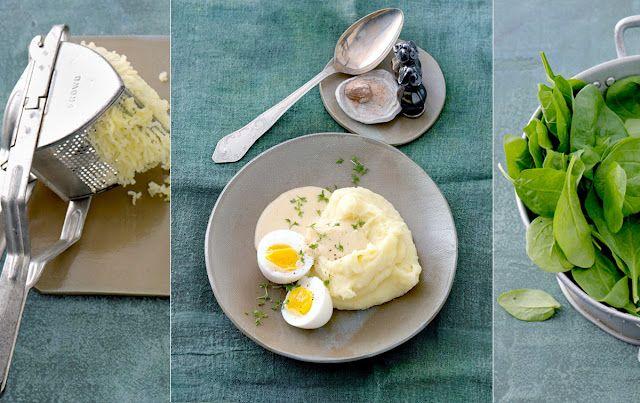 Mashed potatoes & salad