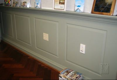 Painted Wainscoting Raised Panel Wainscot With Crown Ledge Diy Wainscoting Faux Wainscoting Wainscoting Styles