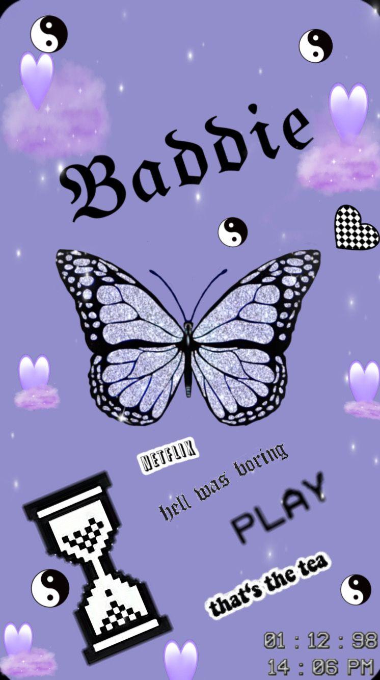 Baddie Iphone Wallpaper Girly Wallpaper Iphone Neon Butterfly Wallpaper Iphone