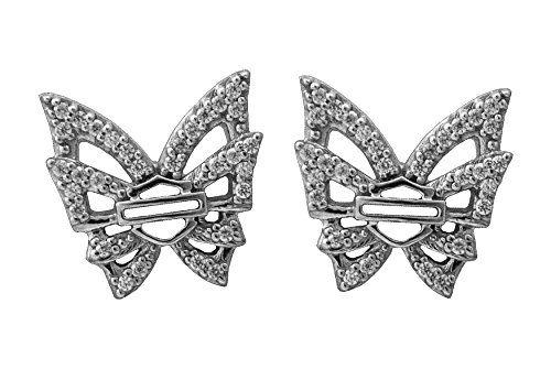 Women's Rebel Bling Butterfly B&S Post Earrings