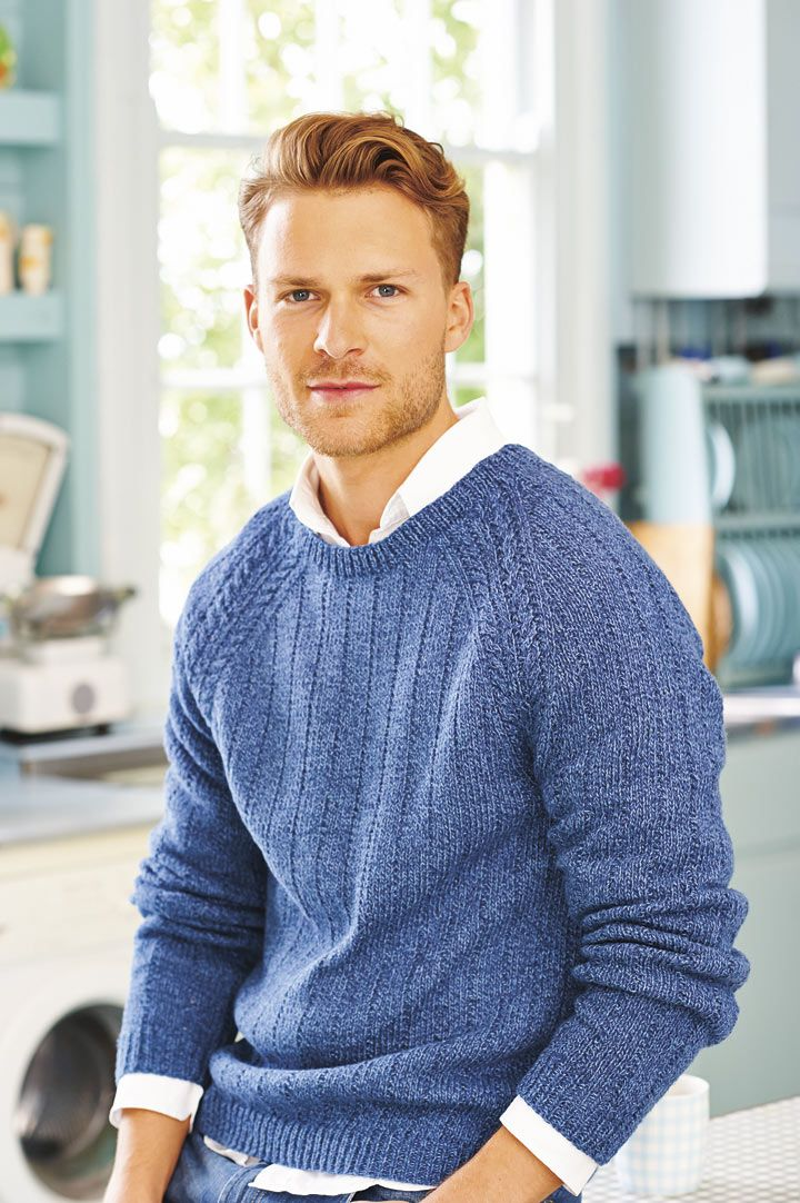 Mens Classic Jumper Vintage Knitting Pattern | Knit patterns, 1960s ...