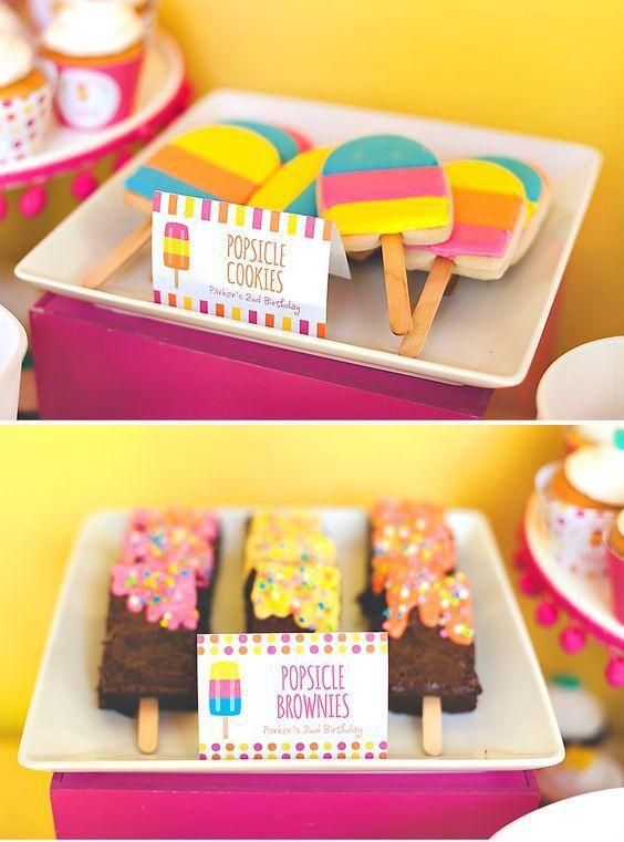 Pool party ideas divertidas fiesta de helados de paletas - Ideas divertidas para fiestas ...