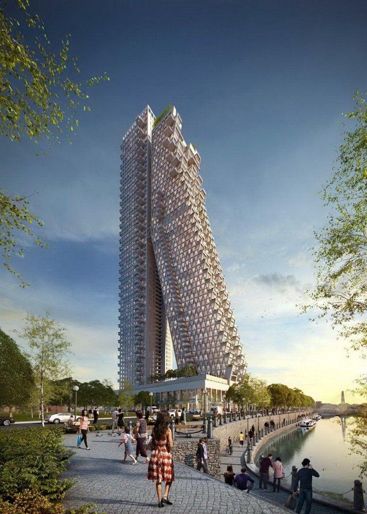 Altair, Colombo Srilanka, 240 M, UC, Architect Moshe Safdie And