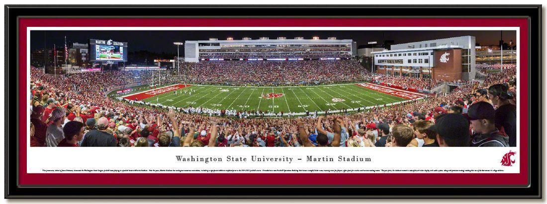 Washington State Cougars Martin Stadium Framed Poster Showing New