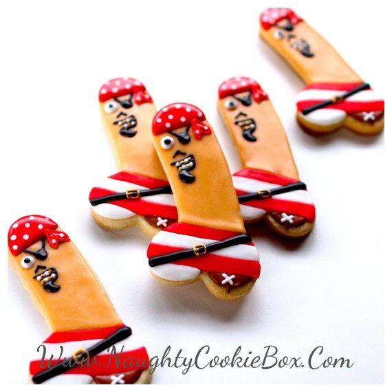 dekoreret penis cookies