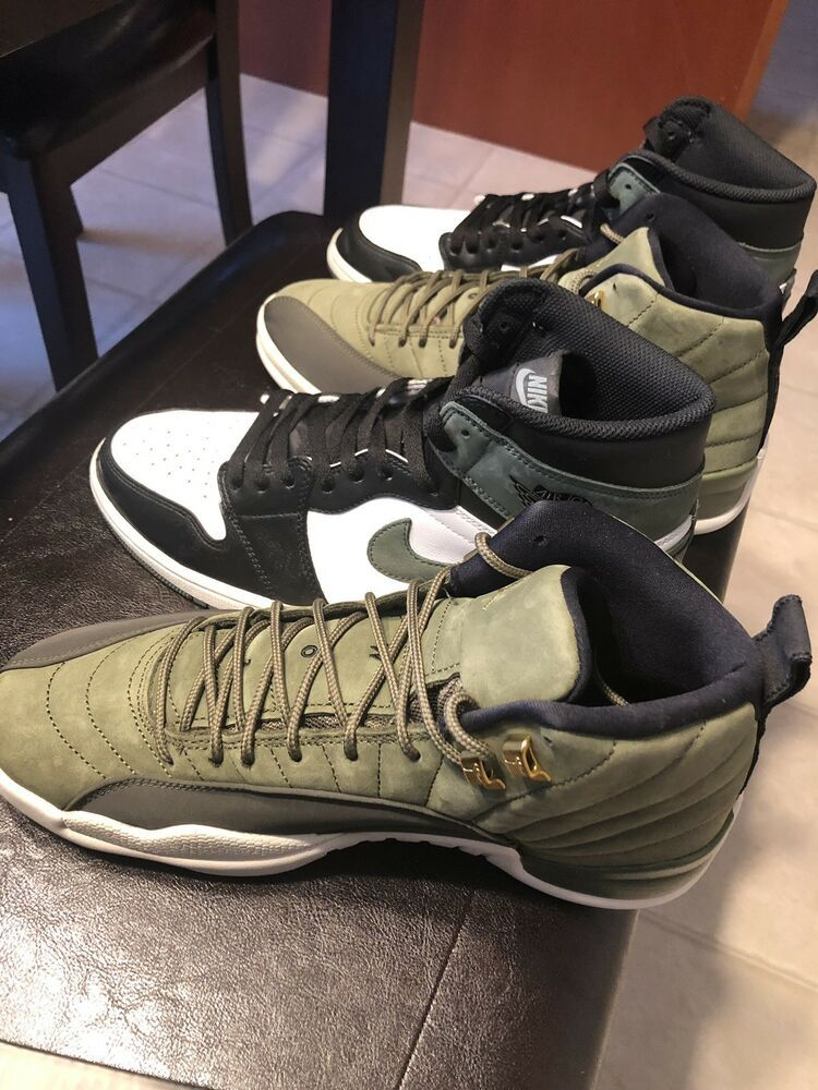 cfbac6274afeab 2018 AIR JORDAN 12 XII CLASS OF 2003 CHRIS PAUL OLIVE GOLD SIZE 10.5 VNDS