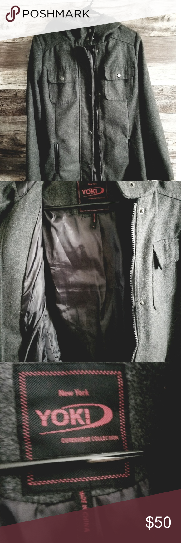 Gray Beltedzipper Front Jacket W Pockets Coats For Women Colorful Coat Clothes Design [ 1740 x 580 Pixel ]