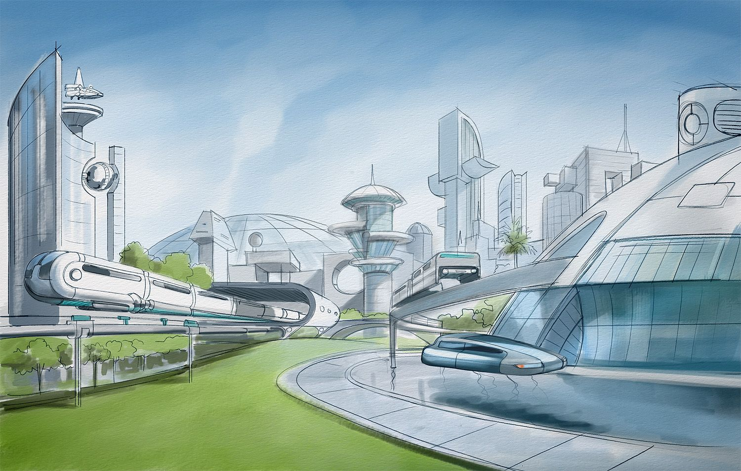 The Foundry Community :: Forums :: Futuristic City ...