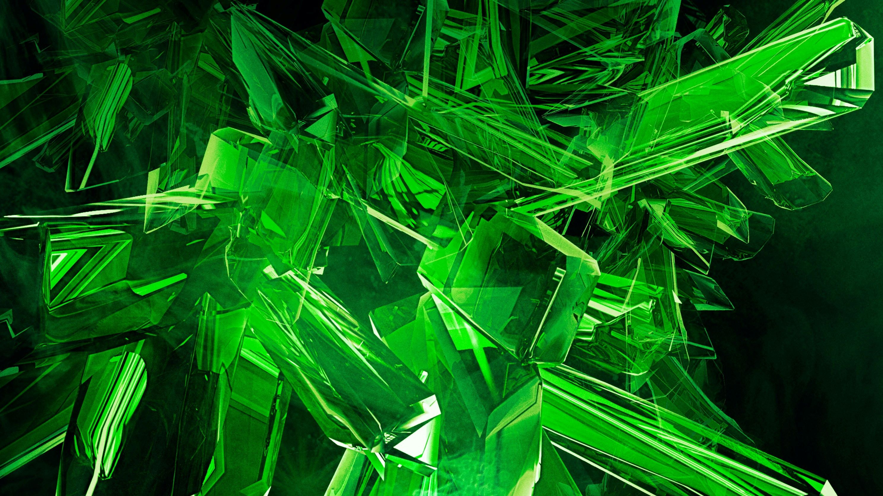 Green Technology Wallpaper: Image Green View Abstract Gems Cool HD Wallpapers