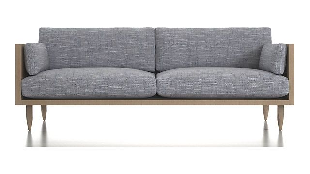 sherwood 2 seat exposed wood frame sofa reviews crate and barrel rh pinterest com