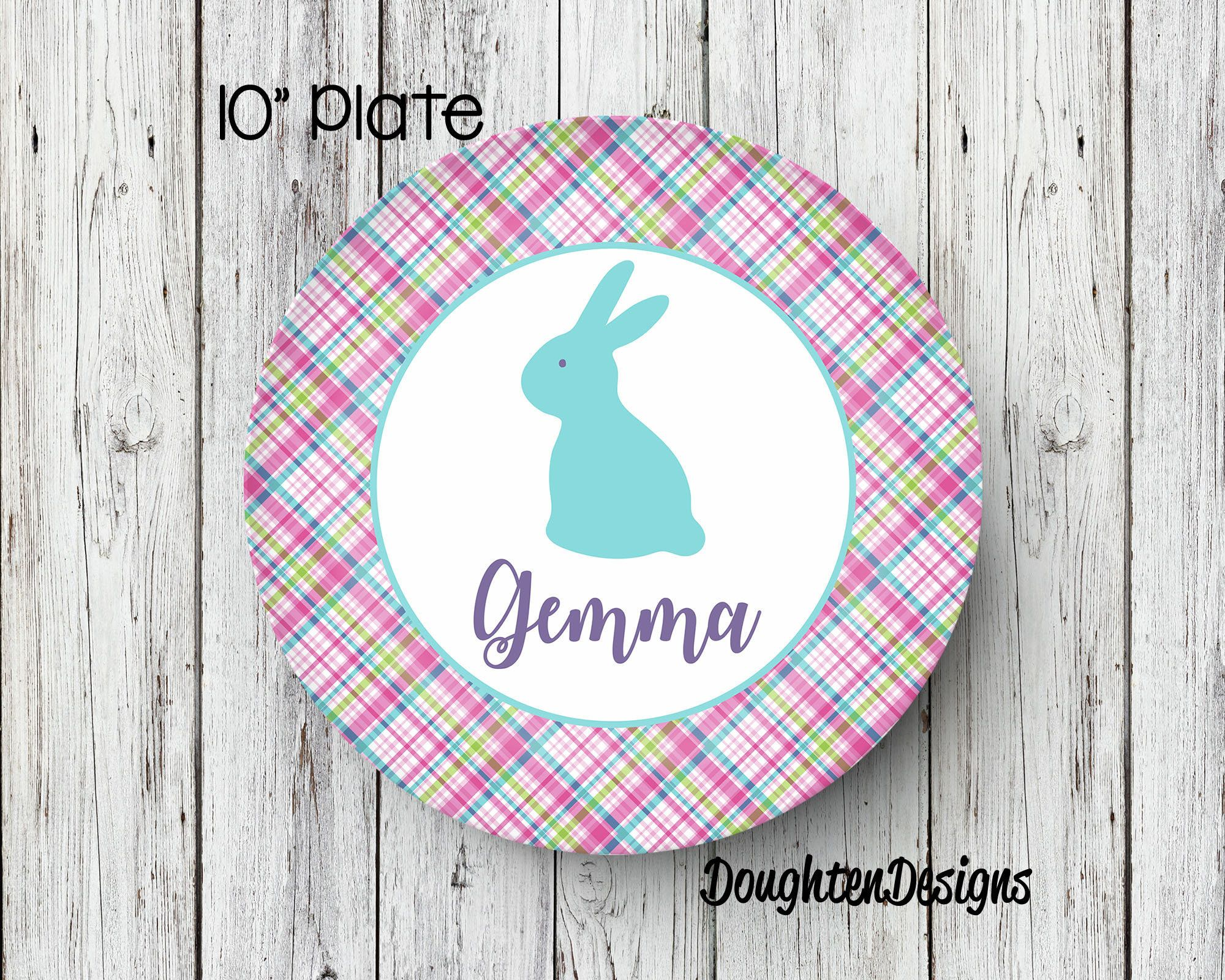 Easter Plate Personalized Melamine Plate Personalized Easter Plate boy Plate Bunny Plate  sc 1 st  Pinterest & Easter Plate Personalized Melamine Plate Personalized Easter Plate ...