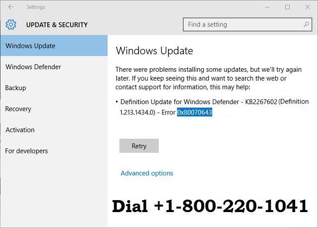 Http Www Windowstechnicalsupportnumbers Com Blog How To Fix Windows Error 0x80070643 Fix It Windows Defender Technical Help