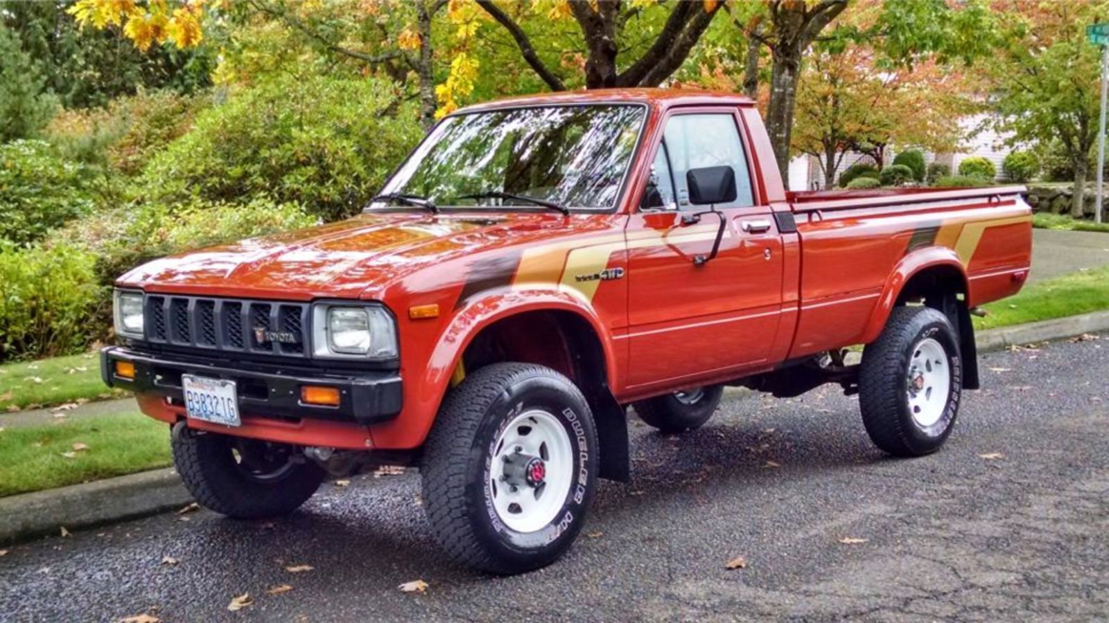 You Could Buy This Perfect 80 S Classic For The Price Of A Nissan Versa Toyota Trucks For Sale Toyota Trucks Truck Paint Jobs