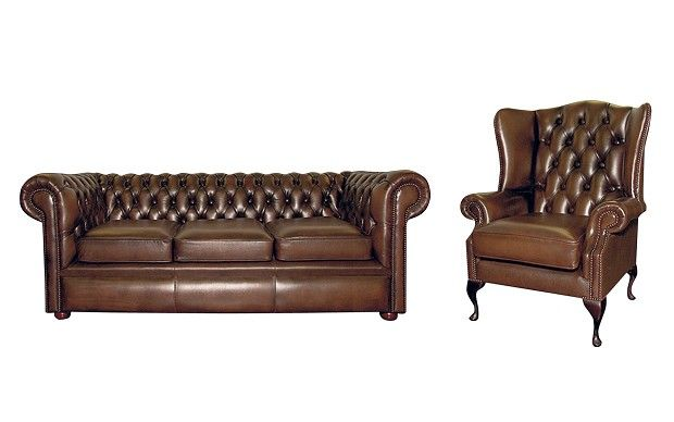This image identifies the chesterfield sofa, which was one the of the most  famous pieces of furniture originating from the Victorian era (1837-1901